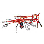 Rotary Windrower with Wheel
