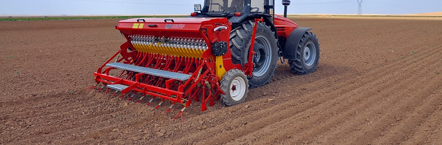 Seed Drill Mounted With Fertilizer and Spring Tine
