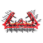 4 Row Spring Tine Tiller Foldable
