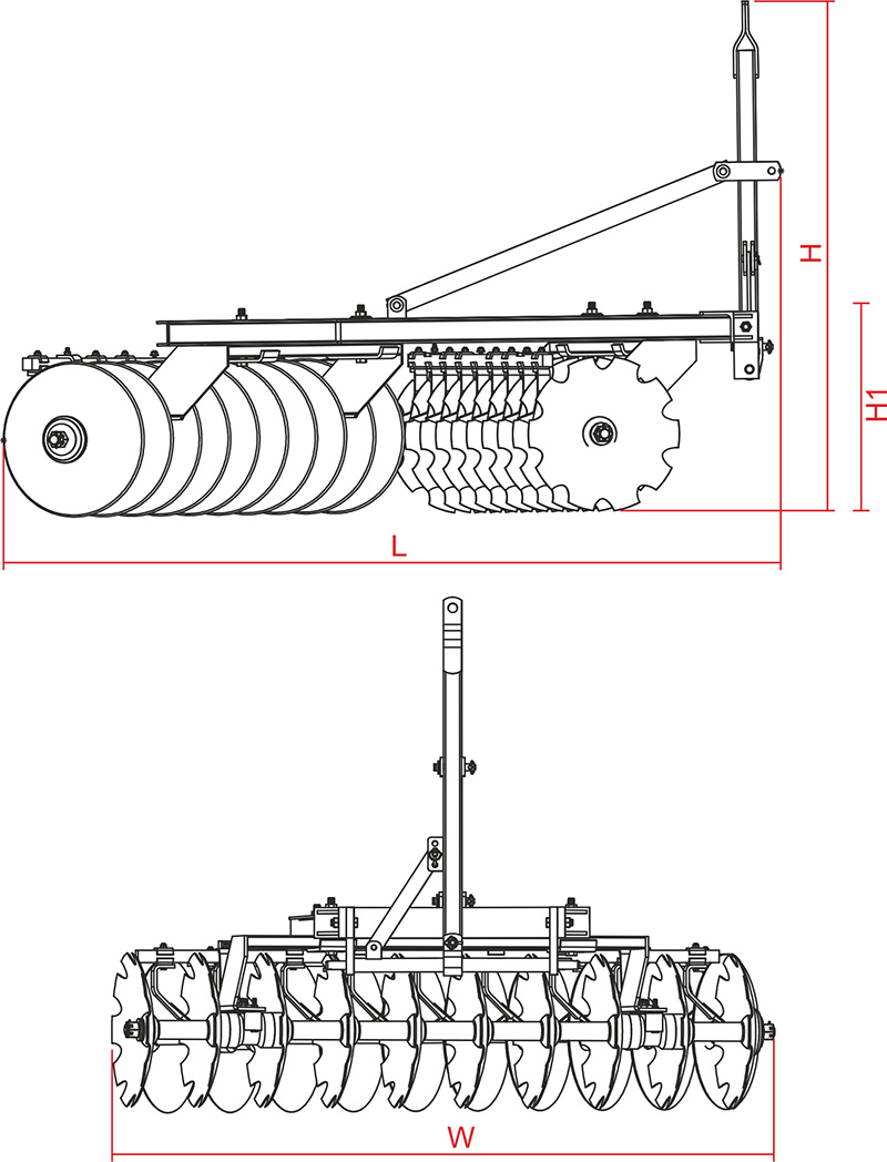 Mounted light type offset disc harrows agricultural machinery mounted light type offset disc harrows pooptronica