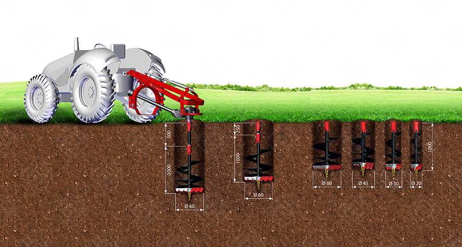Hole Digger Heavy Duty Series-Agromaster Agricultural Machinery